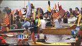 VIDEO: Kayaktivists protest Arctic drilling