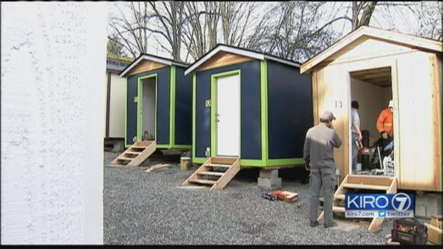 Seattles first tiny house village for homeless to open this week