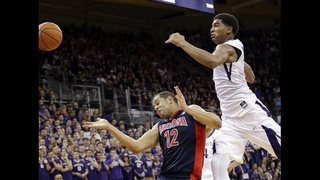 Anderson leads No. 23 Arizona past Washington 77-72