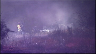 Wrong-way driver runs from fiery crash in DuPont