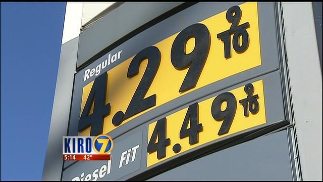 Gas Prices Seattle >> Gas Prices Still Sky High At Some Seattle Pumps Kiro Tv