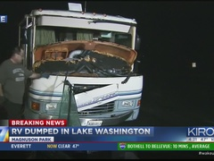 RV found dumped in Lake Washington