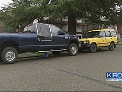 Vandals shoot out car windows West Seattle