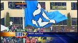 VIDEO: Big display of 12th Man pride flies in West Seattle