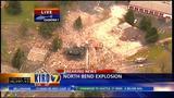 VIDEO: Debris from blast litters streets