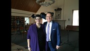 Ana Mari Cauce with KIRO 7's David Wagner. David shares her story on KIRO 7 Profiles on March 18 at 10:30 p.m.