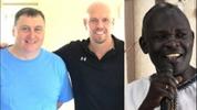 From left: Missionary Scott Volz, pastor Ed Pohlreich and Uganda pastor Steve Kaweesa.