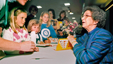 In this April 19, 1998 photo, Beverly Cleary signs books at the Monterey Bay Book Festival in Monterey, Calif. Cleary grew up in Oregon and created characters Ramona and Beezus Quimby, among others. (Vern Fisher/Monterey Herald via AP)