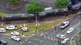 VIDEO: 18 oil tanker cars tipped on their sides in Tacoma