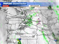 KIRO 7 PinPoint Weather video for Friday morning