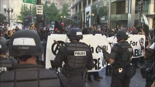 5 officers injured, 9 protesters arrested in violent May Day march