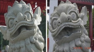Vandals damage Chinese lion statues at Tacoma park