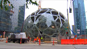 Amazon's newest construction is turning heads in downtown Seattle.