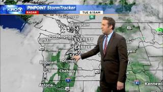 KIRO 7 PinPoint Weather video for Tues. morning