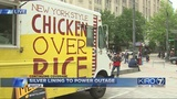 VIDEO: Food trucks popular lunch spots during outage