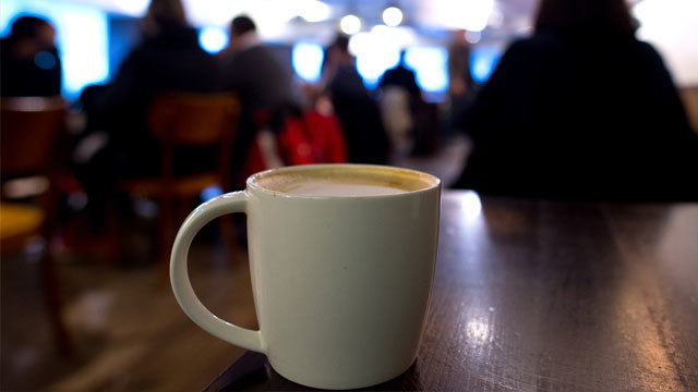 A venti sized caramel latte in a Starbucks. Action on Sugar says tests on 131 hot drinks show that some contained over 20 teaspoons of sugar. Recommended maximum daily intake is 30 grams of sugar. (Photo by Ben Pruchnie/Getty Images)