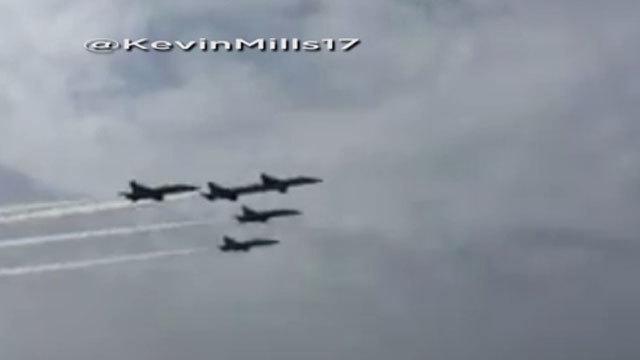After Tragic Crash, Blue Angels Resume Air Show Training