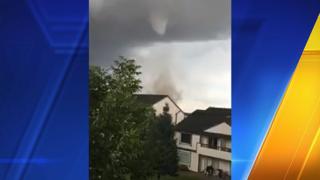 Tornado touches down near Spokane