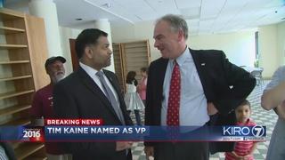 Hillary Clinton announces Sen. Tim Kaine as running mate
