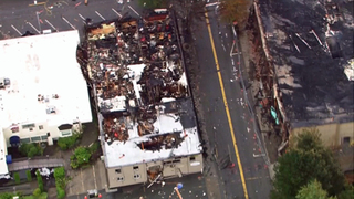Businesses destroyed in massive 3-alarm fire in downtown Bothell
