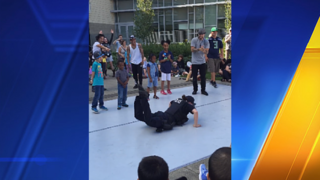 WATCH: Seattle Police officer busts a move at Rainier Beach festival