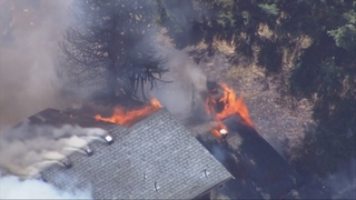 Snohomish Co. firefighters battle duplex blaze