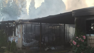 2 mobile homes destroyed in SeaTac fire