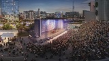 Conceptual renderings of the the stage outside CenturyLink Field.  (Credit: Upstream)