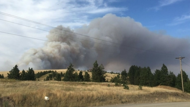 Spokane Wildfire Map.Large Wildfires Force Mandatory Evacuations Near Spokane Kiro Tv