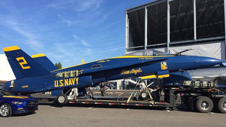 Blue Angels jet to retire at Museum of Flight