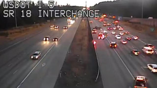 Flipped car backs up I-5 traffic in Federal Way