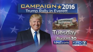 Trump confirms Everett visit, despite big Clinton lead in Washington state