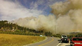 Raging wildfire forces evacuations near Leavenworth