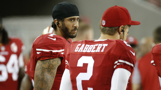 San Francisco 49ers quarterback Colin Kaepernick refuses to stand for…