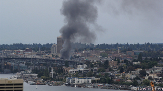 Fire at vacant building sends up heavy smoke near Lake Union