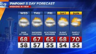 KIRO7 Pinpoint Wednesday Forecast