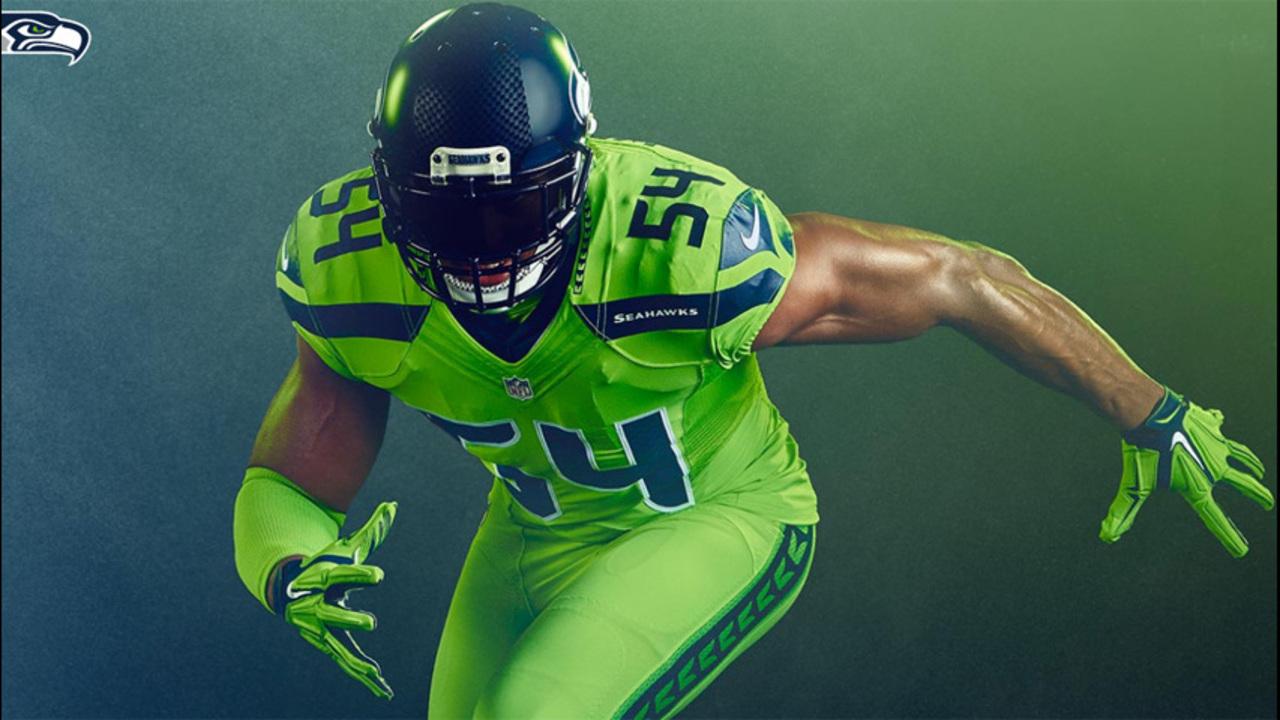 sports shoes 3d0e6 60724 Seahawks unveil eye-popping 'color rush' uniforms | KIRO-TV