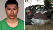 From left to right: A photo of crash victim Walter Burton; a photo of the crash scene.