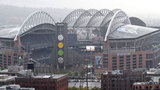 Though traffic around CenturyLink Field isn't too bad before Seahawks games, post-game traffic can be a nightmare that Seattle police have to deal with. (AP)
