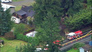 Victim airlifted after Enumclaw fire