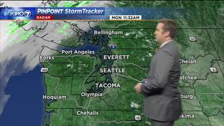 KIRO 7 PinPoint Weather video for Mon. afternoon