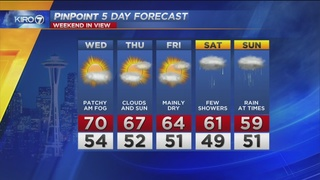 KIRO 7 PinPoint Weather for Tues. evening