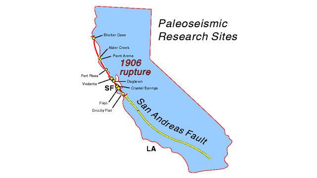 Heres Why Seismologists Warned Of An Earthquake In California - Andreas fault map