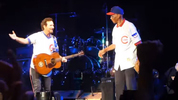 Eddie Vedder and Ernie Banks at Wrigley Field, July 19, 2013. (Photo: Fliptwister/YouTube)