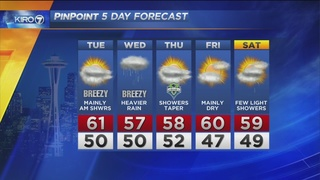 KIRO 7 PinPoint Weather Video for Mon. evening