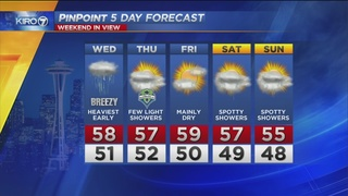 KIRO 7 PinPoint Weather Video for Tues. evening
