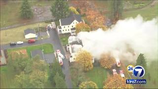 Historic home fire sends thick smoke over Discovery Park
