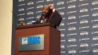Richard Sherman dresses up as Harry Potter to talk football, Quidditch