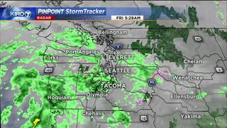 KIRO 7 Pinpoint Weather video for Fri. morning