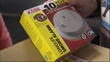 Replace smoke alarm batteries at least once every year. Replace the entire smoke alarm every 10 years.